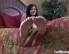 We will make her worship our feet