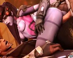 Threesome sex with Widowmaker and more Overwatch heroes