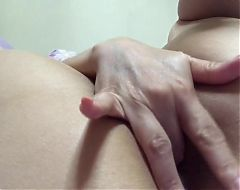Chinese Lin finger fucks her ass hole