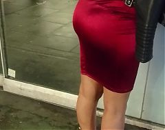 Eastern European Bubble Butts Bursting Out Of Tight Skirt