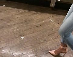 1of 3 SEXY SLOW MOTION LEGS IN HEELS TIGHT JEANS ASS MILF