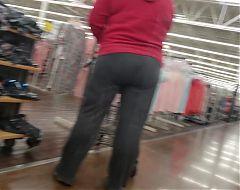 Grey Sweats Ass with a Big Squat
