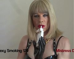 SEXY SMOKING IN PVC