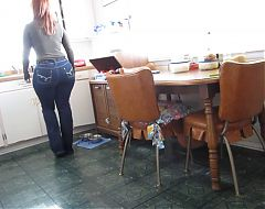 Fantastic Huge Ass in Tight Jeans - AWESOME