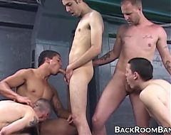 Studs suck dick and visit the gloryhole during group session