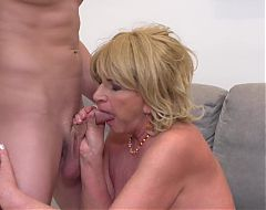 Granny sex Katalina seduce and fuck young boy